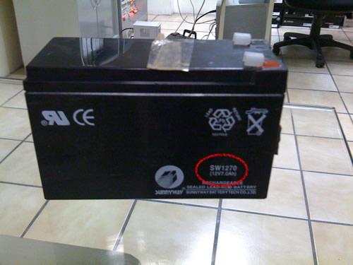 El modelo de bateria es una 1270 o 12 volts 7 ampers