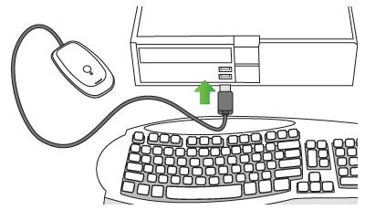 Controladores para el Xbox 360 Wireless Gaming Receiver