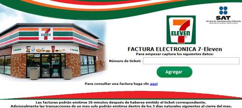 Como hacer la facturación electronica de 7Eleven