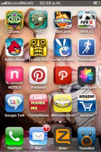 Icono en el home de dispositivos Apple