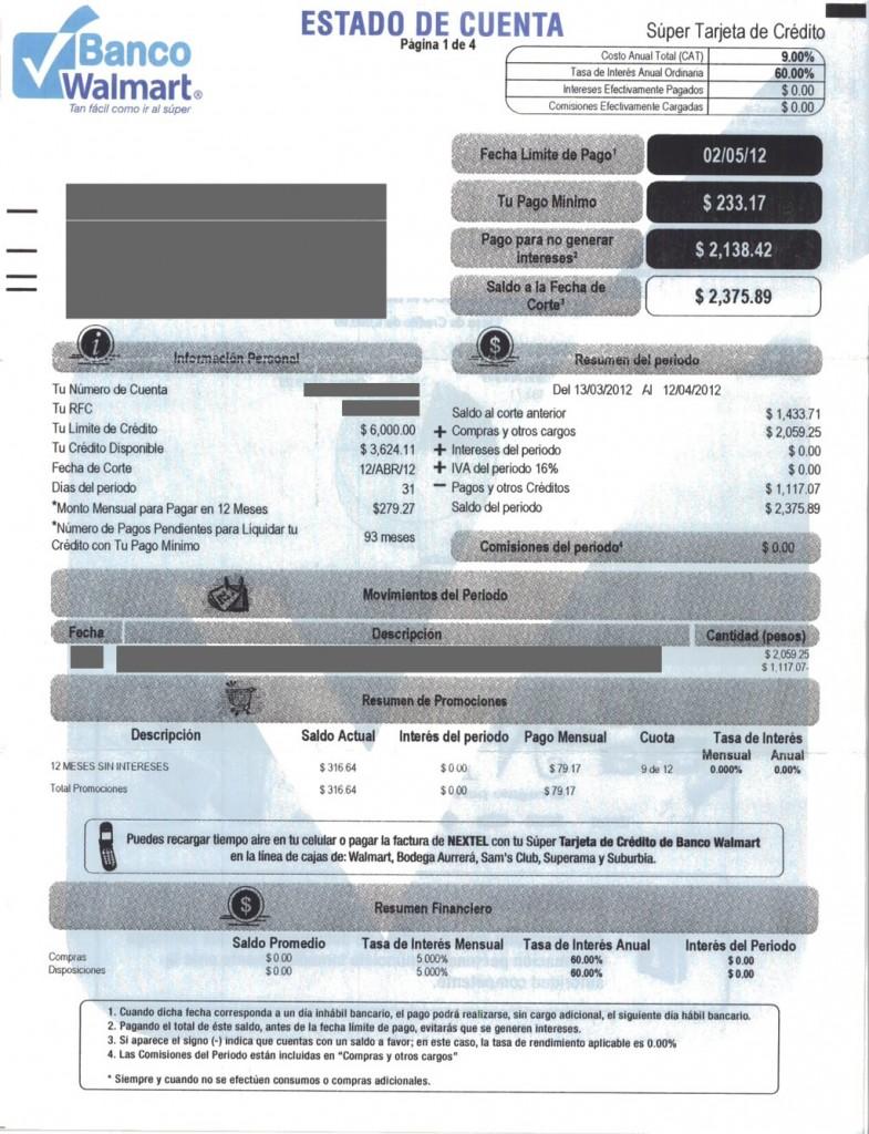 Estado de Cuenta Banco