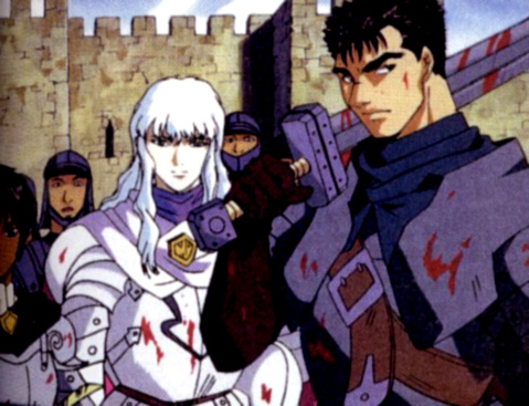 Berserk llego al anime, entre 1997 y 1998