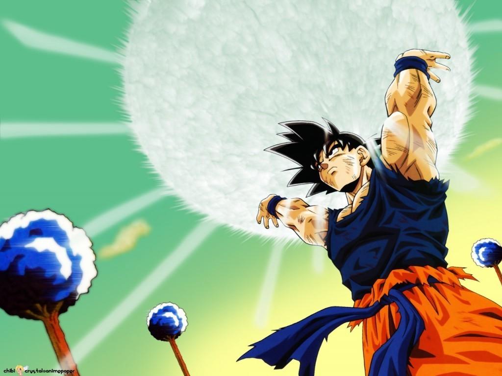 Goku realizando la Genki-dama
