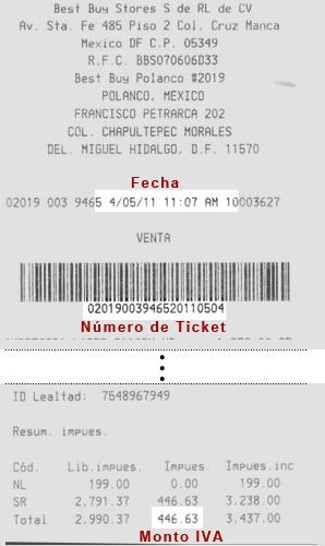 Facturación Electrónica Best Buy Mexico Ticket Ejemplo