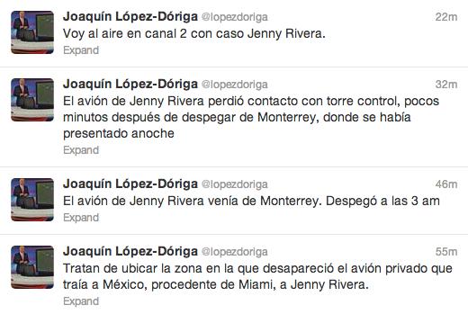 Confirma Lopez Doriga accidente de Jeny Ribera