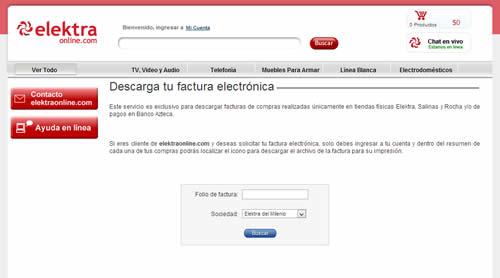Facturas Electrónicas de Elecktra y Salinas y Rochas