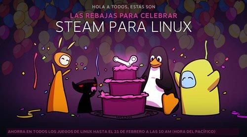 Promociones de Lanzamiento de Steam en Linux