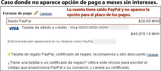 Cuenta con problemas con el pago a meses sin intereses de Paypal