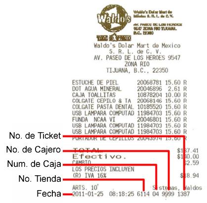Ticker de Waldos para hacer facturas electrónicas