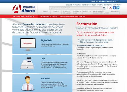 Cuales son los pasos para sacar Sacar Facturas Electrónicas de Farmacias del Ahorro por Internet