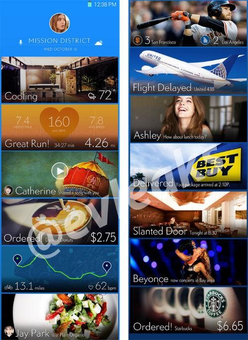 Posible interfaz del Galaxy S5