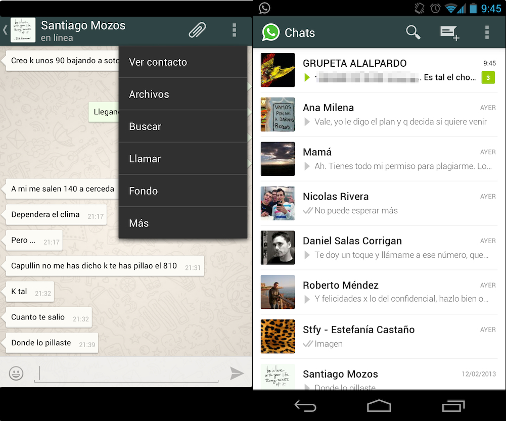 WhatsApp Android 2