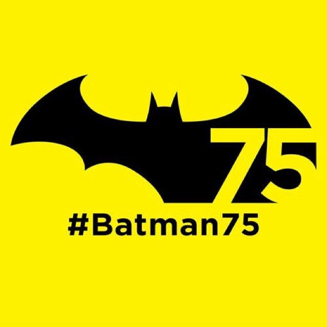 Logo conmemorativo de los 75 años de Batman