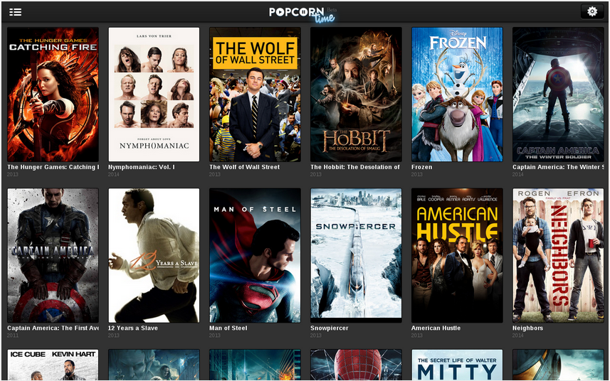 El catálogo de Popcorn Time es bastante amplio y actualizado