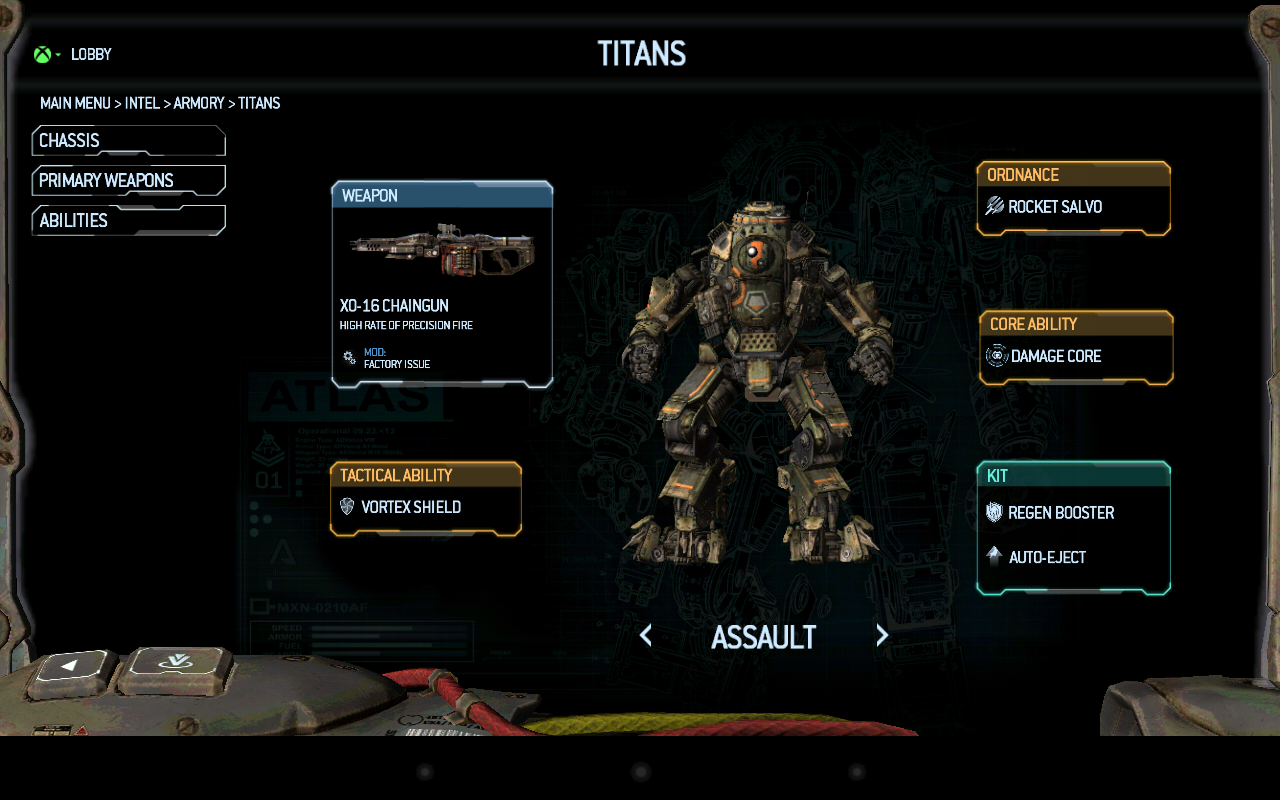App de Titanfall para dispositivos moviles