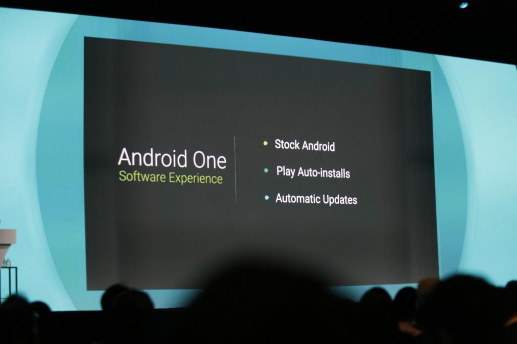 Presentación de Android One en Google I/O