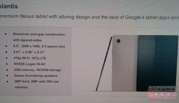 Imagen de la captura donde se pude ver el hardware que se maneja en el desarrollo de la tablet (Por confirmar).