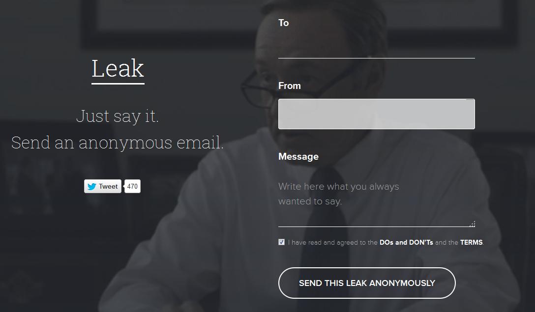 Leak, el servicio que brinda anonimato en los mensajes de correo electrónico