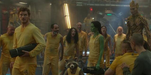 Peter Quill, Gamora, Groot y Rocket
