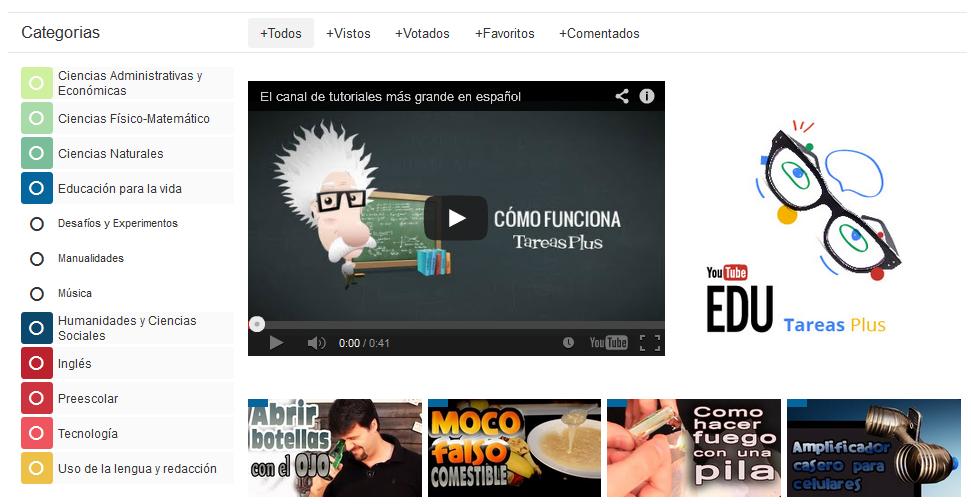 YouTube Edu tiene más de 22 mil videos de enseñanza
