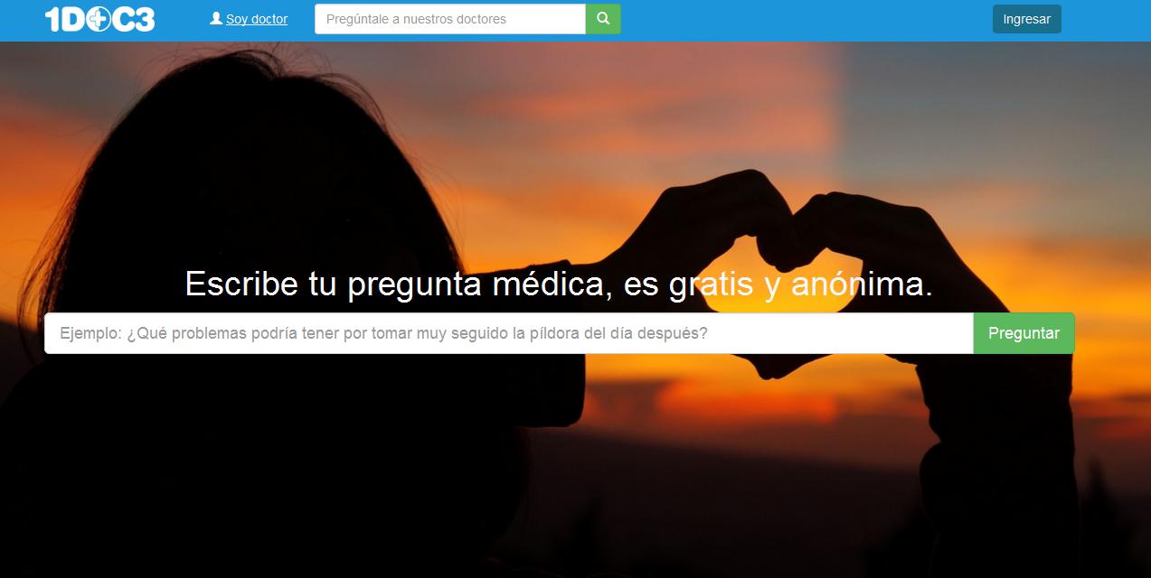 Medicos a un click, con 1doc3.com