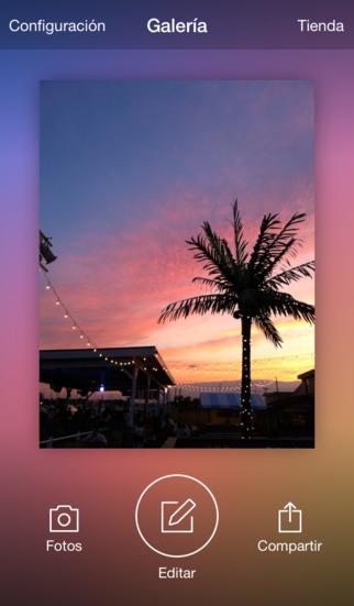 Interfaz de Aviary en iOS