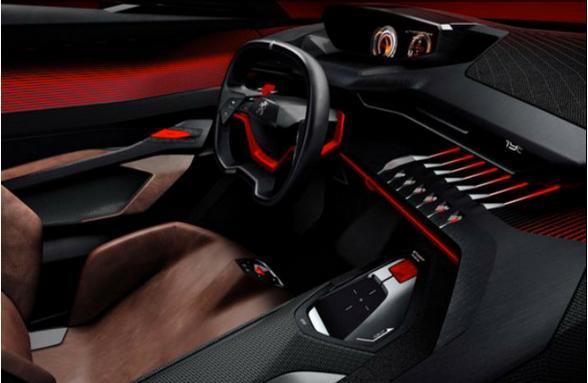 Diseño Interior del Peugeot Quartz