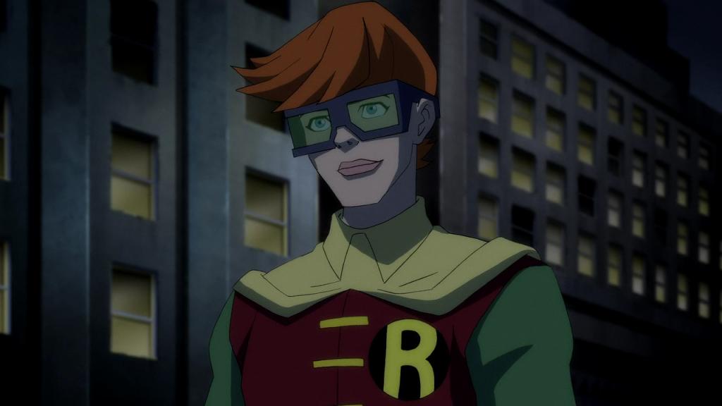 Carrie Kelly es quien viste el traje de Robin en el Retorno del Señor de la Noche. El comic de Frank Miller.