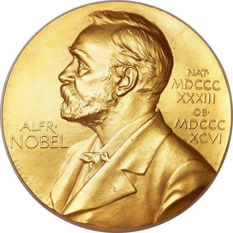 Medalla que reciben los galardonados con el Premio Nobel