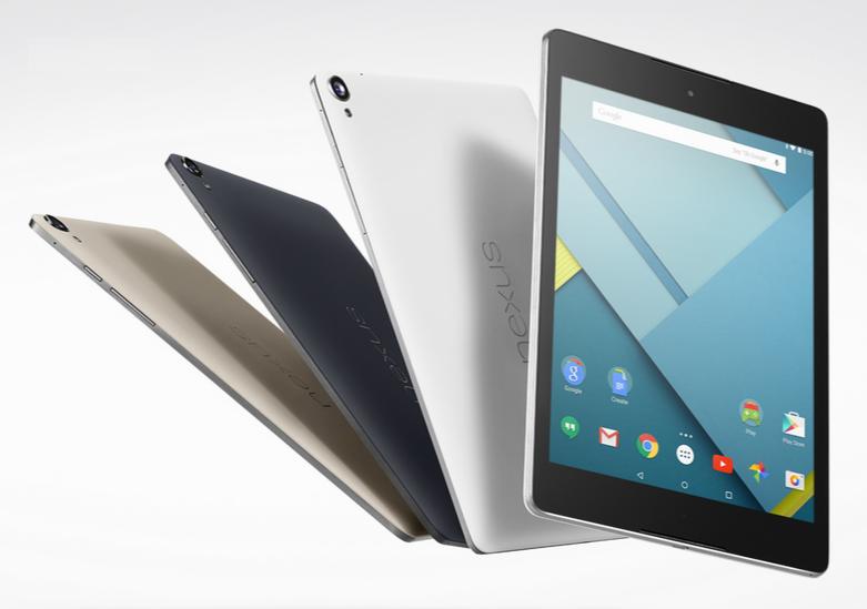 La Nexus 9 llegara en 3 colores. Negro Índigo, Blanco Lunar y Arena.