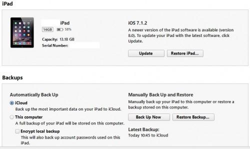 No hay espacio suficiente para actualizar a iOS 8