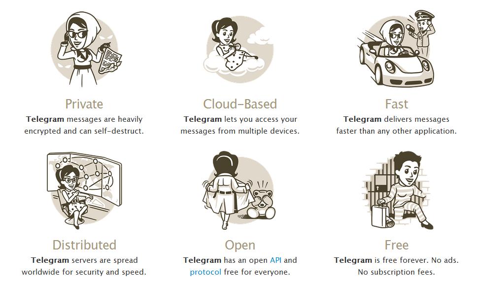 Algunas de las ventajas de Telegram