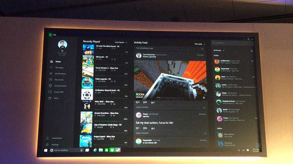 Integracion entre Xbox y  Windows 10