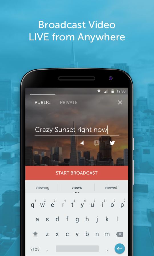 Interfaz Periscope para Android