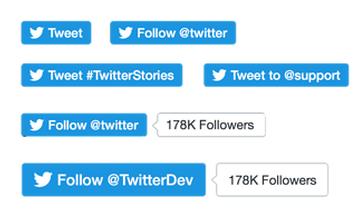 Nuevos botones de Twitter