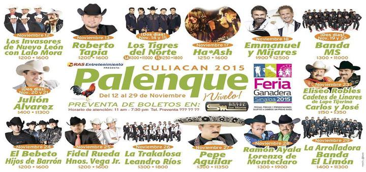 Artistas Palenque Feria Ganadera Culiacan
