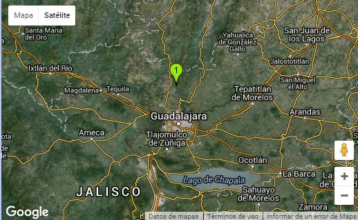 Epicentro Temblor en Guadalajara