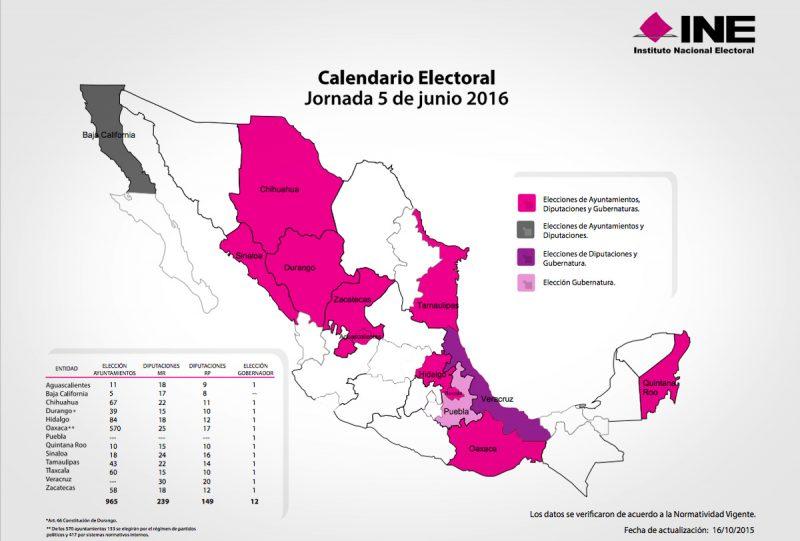 Consultar el PREP 2016 elecciones México
