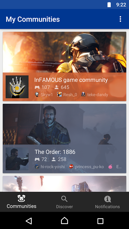 Interfaz de la aplicación