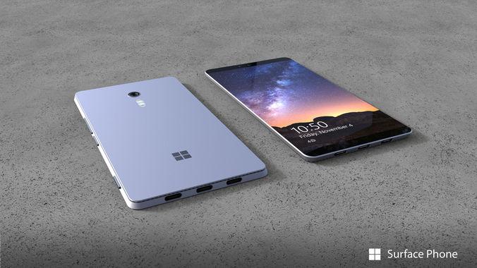 Concepto de cómo se podría ver el Surface Phone