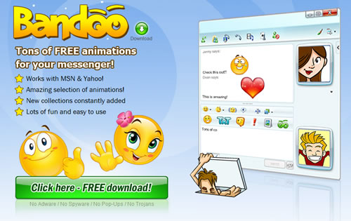 Emoticons gratuitos para Messenger y Yahoo Messenger