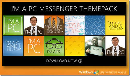 I'm a PC: Tema gratuito para windows live Messenger
