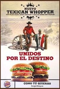 Anuncio Burger King de la hamburguesa Texican Whopper