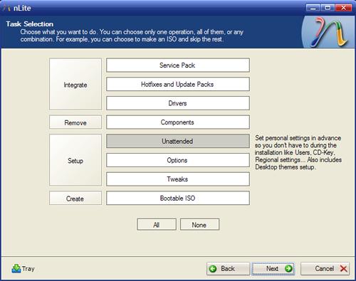 nLite te permite crear un cd de instalacion de windows personalizado