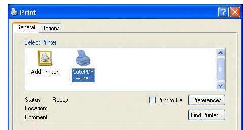 Imprimir PDF de manera gratuita con CutePDF Writer