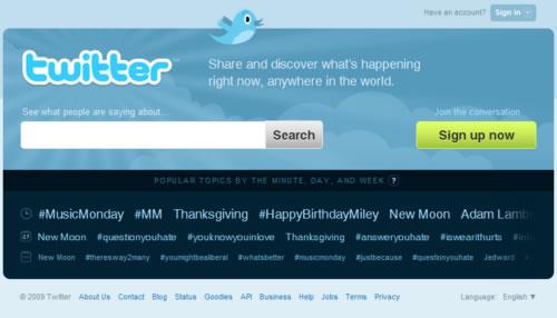 Página Principal de Twitter
