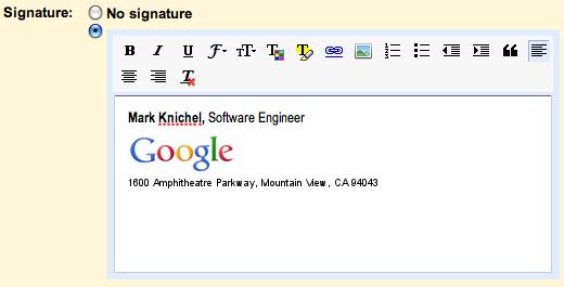 Editor de firmas con imagenes en Gmail y Google Apps