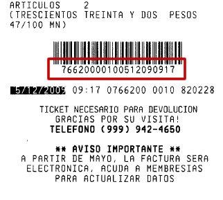 Número de Ticket de Costco