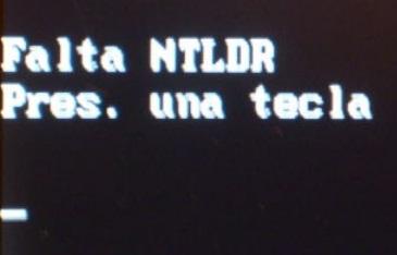 Falta archivo Ntldr