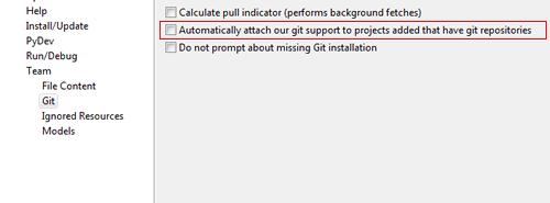 Como deshabilitar el soporte de GIT en Aptana